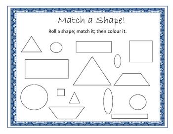 2D shape matching game