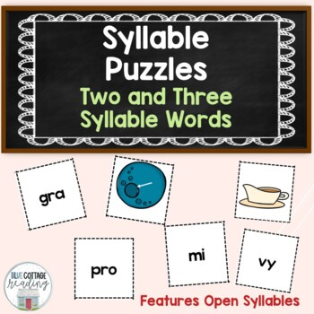 Matching syllables and pictures