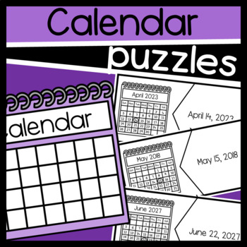 Matching the Calendar to the Date Puzzles