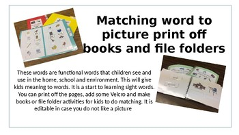 Matching words to school, home and community