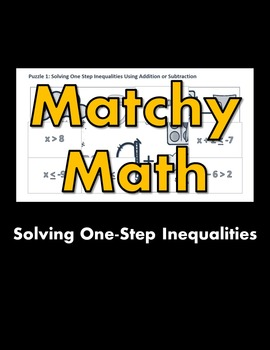 Matchy Math:  Solving One-Step Inequalities Game