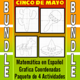 Matemática en Español - Grafica Coordenadas - Paquete de 4 Actividades