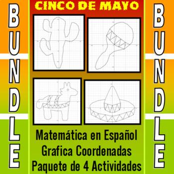Matemática en Español - Grafica Coordenadas - Paquete de 4