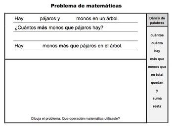 Matemáticas: Dibujar y escribir: Suma o resta