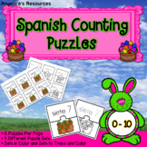Spanish Easter Activities : Counting in Spanish - Number Sense Puzzles