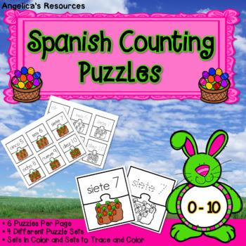 Matemáticas: Rompecabezas de Numeros -  Spanish Easter Cou