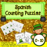 Spanish St. Patrick's Day Activiites : Numbers -  Rompecabezas de Los Números