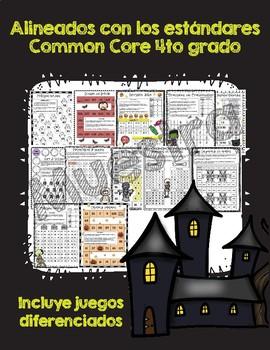 Matemáticas de miedo / Halloween Themed No Prep Math Games Spanish