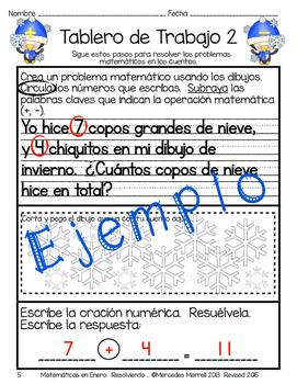 Matemáticas en Enero: Resolviendo Problemas en Cuentos Primer Grado