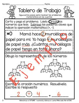 Matemáticas en OCTUBRE: resolviendo problemas en cuentos Números 1-20