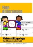 Matematikk: Finn differansen mellom to tall