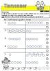 Matematikk: Tiervenner med figurer, tellestreker og tall