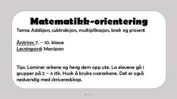 Matematikk-orientering