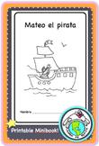 Mateo el pirata Pirates Printable Spanish Minibook