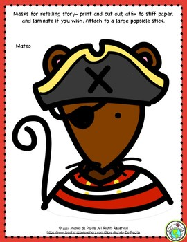Mateo y el mapa del tesoro A Pirate Adventure Story and Activity Pack in Spanish
