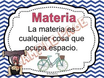 Materia - Matter Unit in Spanish