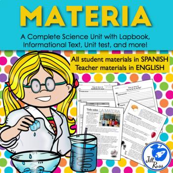 Materia Propiedades física y estados Unidad y Lapbook y texto informativo