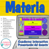 Materia cuaderno interactivo digital