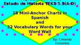 Materia y Energia TEKS 5.5 A-D Spanish Matter and Energy