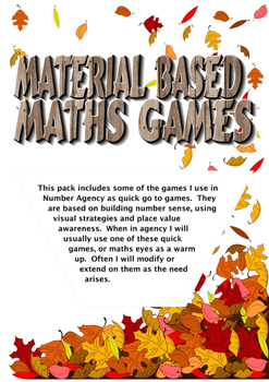 Material Based Maths Games
