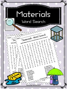 Material Properties Word Search