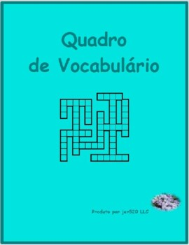 Material escolar (School Objects in Portuguese) Kriss Kross puzzle