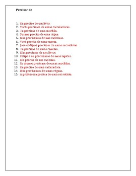 Material escolar (School Supplies in Portuguese) Worksheet