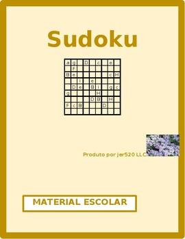 Material escolar (School Objects in Portuguese) Sudoku