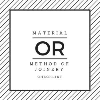 Material or Method of Joinery?