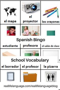 Materiales Escolares Bingo