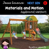 Materials In Our World: Kindergarten Foss Science Supplemental Worksheets