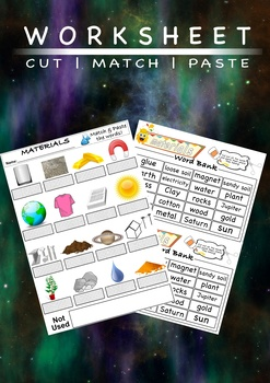 Materials - Initial Assessment; Worksheet and Flashcards!