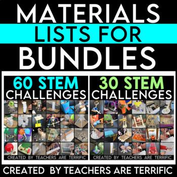 Materials Lists for Bundles