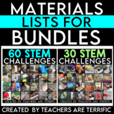 Materials Lists for Large Bundles