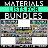 Materials Lists for Grade Level Bundles