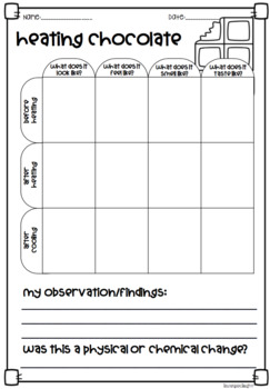 Materials Mini Book and Worksheets