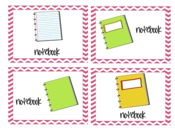 Materials Needed Posters Pink Chevron