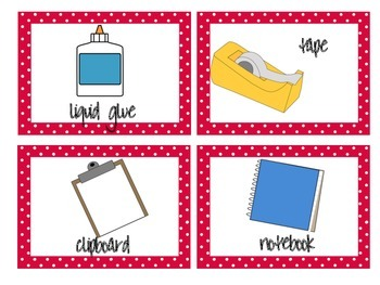 Materials Needed Posters Red Polka Dots