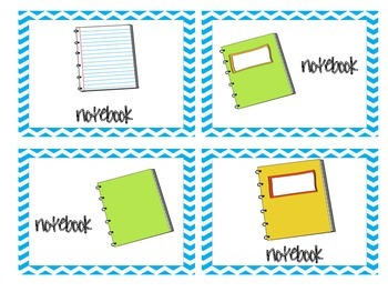 Materials Needed Posters Teal Chevron