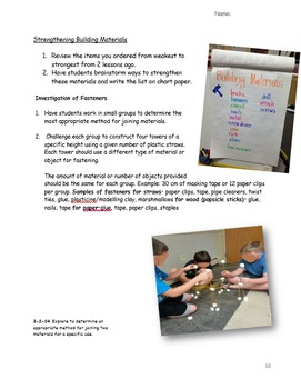 Materials, Objects & Structures Common Core Science/Inquiry Based unit NO PREP