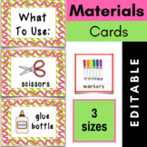 Materials Picture Cards {Editable}