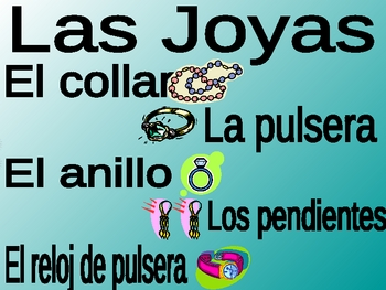 Materials Power Point (Los materiales) in Spanish (38 slides)