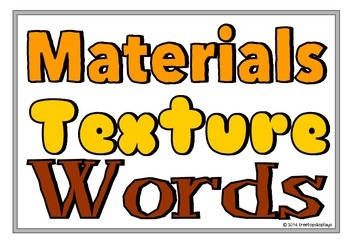 Materials Texture Words