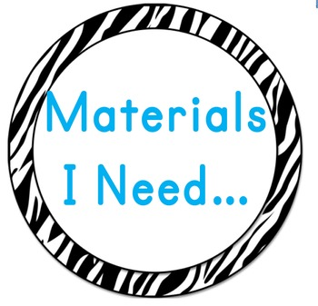 Materials Wall Chart