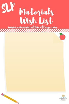 Materials Wish List Template