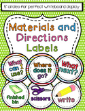 Materials and Directions Labels