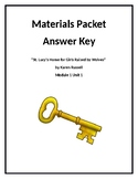 Materials and Worksheets for St. Lucy's...Answer Key