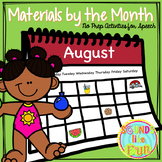 Materials by the Month: No Prep Activities for Speech & La
