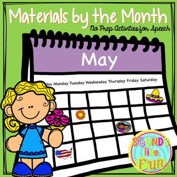 Materials by the Month: No Prep Activities for Speech & Language - May