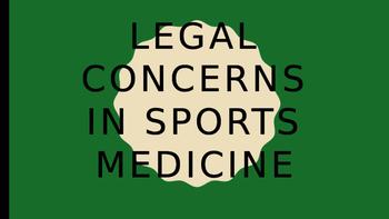 Materials for Legal concerns